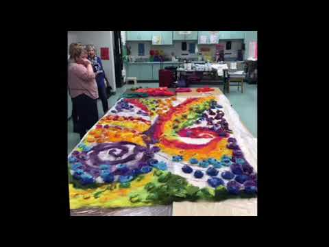 Wegner School Wool Mural April 25, 2018
