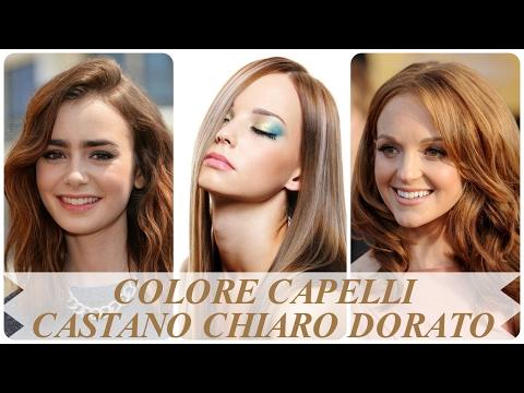 Colore Capelli Castano Chiaro Dorato Youtube
