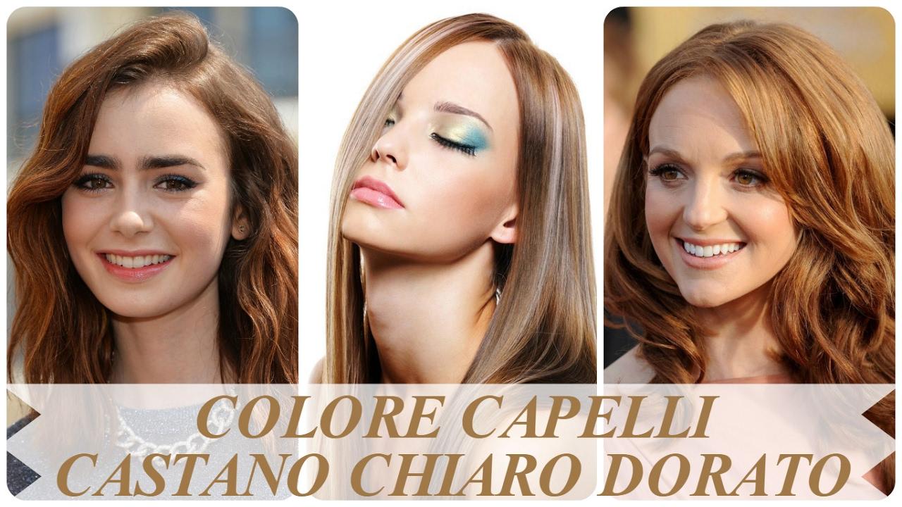 Amato Colore capelli castano chiaro dorato - YouTube CZ96