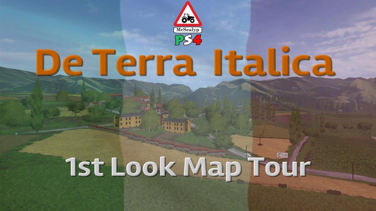 De Terra Italica, 1st Look Map Tour  Farming Simulator 17 PS4  Map by Team  FSI Modding Sukaz MarcoLs