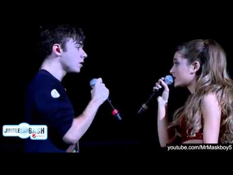 Ariana Grande and Nathan Sykes  Almost Is Never Enough at Jingle Bash 2013