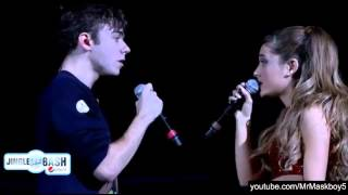 Repeat youtube video Ariana Grande and Nathan Sykes - Almost Is Never Enough at Jingle Bash 2013
