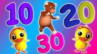 Nummer Song 1 bis 30 | Karikatur-3D für Kinder | Bildungs Video | Erfahren Zahlen |Number Song 1-30