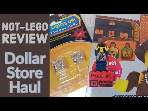 LED Building Blocks And Building Block Brick Stickers |Dollar Store Not-Lego Haul
