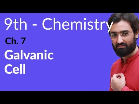 Galvanic Cell - Chemistry Chapter 7 Electrochemistry - 9th Class