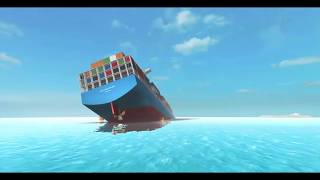 Sinking of the Cargo ship SS Unsinkable | Roblox Short film