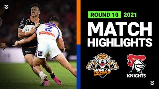 Wests Tigers v Knights Match Highlights   Round 10, 2021   Telstra Premiership   NRL