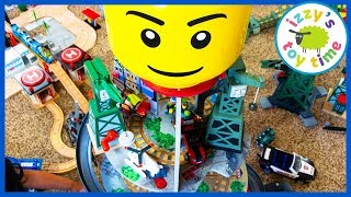 CRANKIES VS HAROLDS VS LEGO!! Thomas and Friends PRETEND PLAY SKIT
