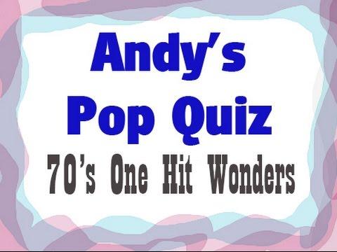 Pop Quiz No37 - One Hit Wonders Of The 70s. Part 1