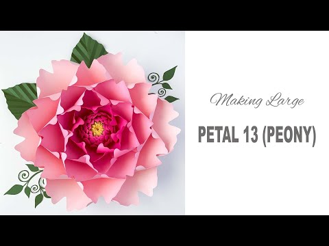 How To Assemble Large Peony using Paper Flower Template #13