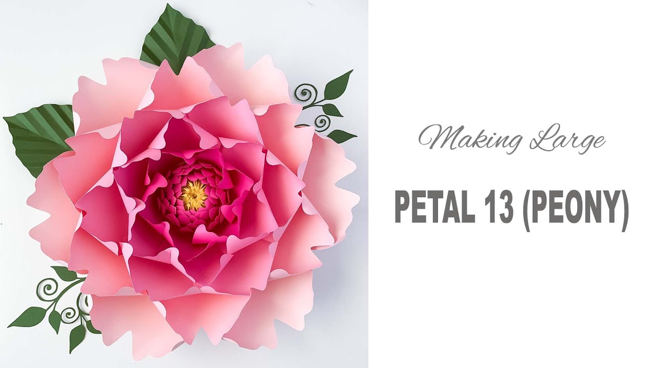 How To Assemble Large Peony Using Paper Flower Template 13