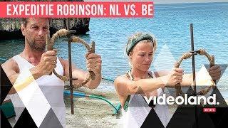 Geraldine Kemper doet mee aan pittige proef van Expeditie Robinson NL vs. BE