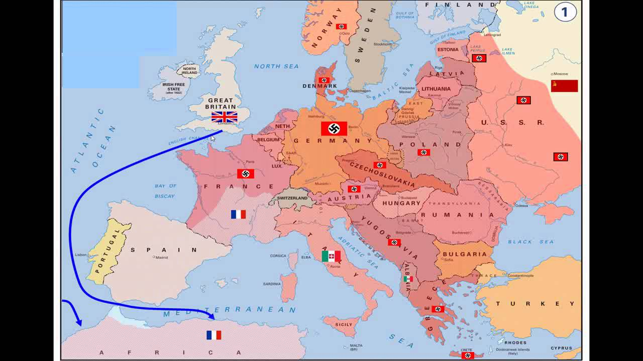carte europe fin seconde guerre mondiale