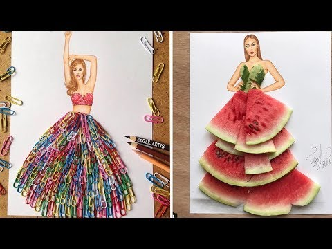 Stunning Fashion Illustrations from Everyday Objects by Edgar Artist