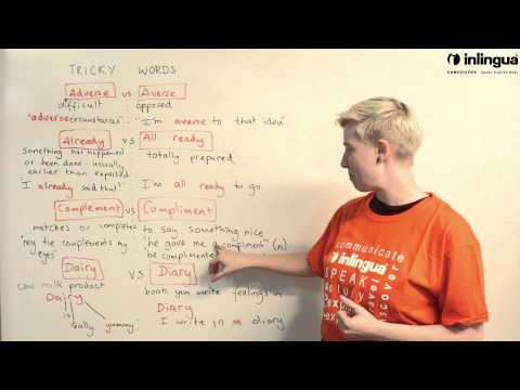 Tricky Words: Adverse vs Averse / Already vs All ready / Complement vs Compliment - English Lessons