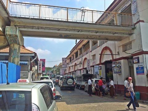 ตลาดช็อปปิ้งเก่าแก่ในย่างกุ้ง shopping yangon old market (bogyoke aung san market)