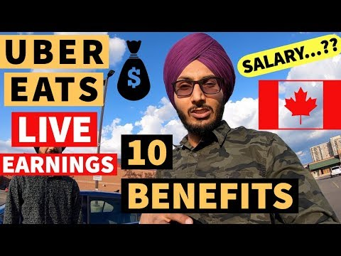 10 Amazing Benefits Of UBER EATS (Best Part Time JOB)
