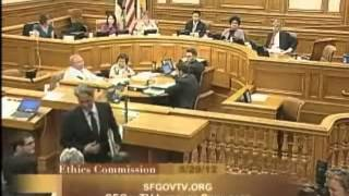 SF Ethics Commission Hearing & how Sheriff Mirkarimi was greeted by audience