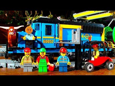 Lego City Freight Train 60052 Fun Play GoPro POV & Train Crashes Pt2