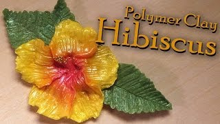 Hibiscus Charm/Pendant - Polymer Clay Tutorial