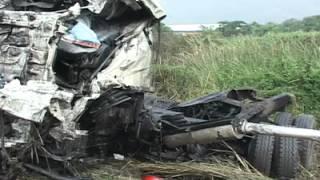 Accidente entre vehículos pesados en la ARC