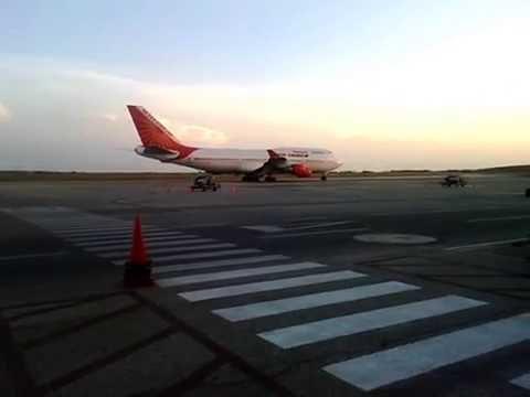 Boeing 747 400 AIR INDIA EN SVMG, Isla de Margarita, Venezuela