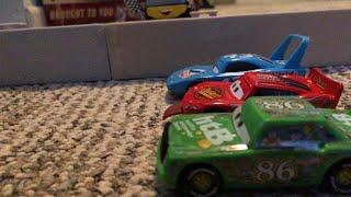 Disney Pixar's Cars Dinoco 400 Final Lap | The 3 Way Tie Remake