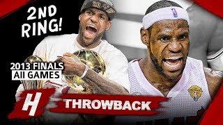 LeBron James 2nd Championship, Full Series Highlights vs Spurs (2013 NBA Finals) - Finals MVP! HD thumbnail