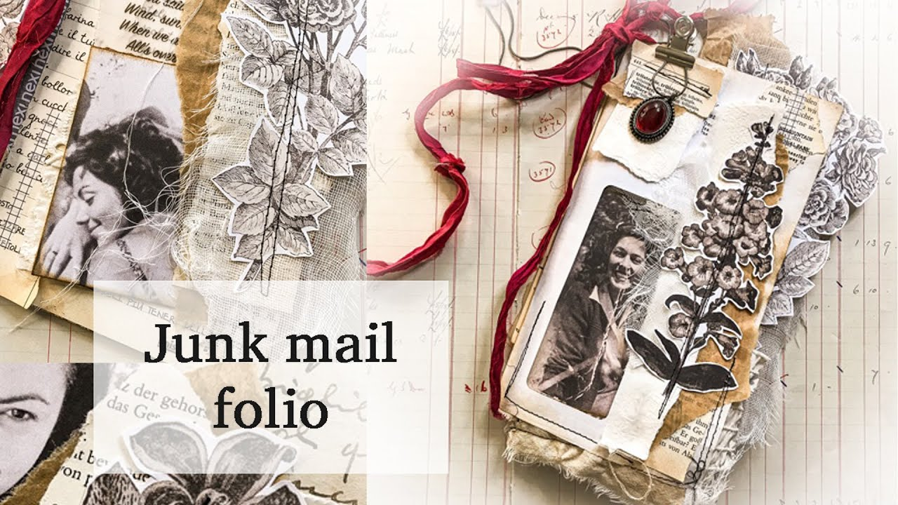 HOW TO create a 3 generations FOLIO from a JUNK MAIL   JJ#211
