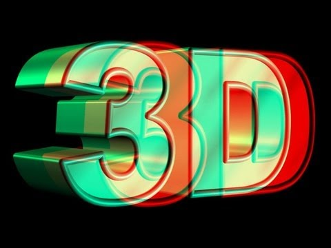 how to make red and blue 3d glasses