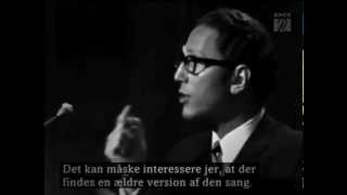 Tom Lehrer - The Elements - LIVE FILM From Copenhagen in 1967