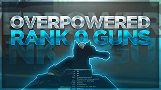 THE RANK 0 GUNS IN ROBLOX PHANTOM FORCES!! (OVERPOWERED)