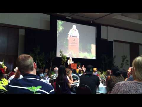 Jack Jeffrey's award speech, 2013 Hawaii Conservation Conference, Honolulu