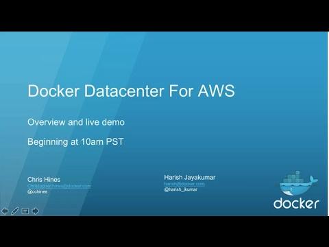 Docker Datacenter for AWS