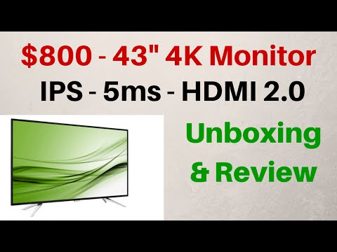 "Philips 43"" - 4k Monitor - IPS - 5ms - HDMI 2.0 - Unboxing & Review"