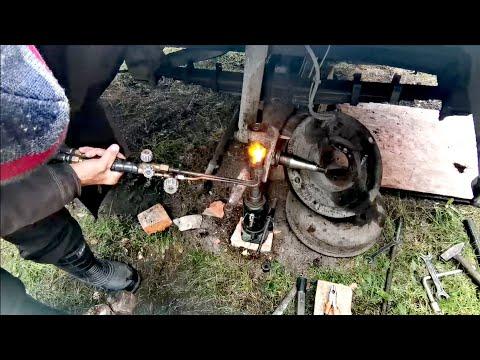 Газ 3309 починил шкворня, рулевые наконечники, амортизаторы :)