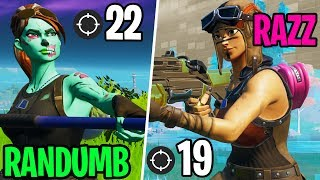 I spectated LG RANDUMB vs. LG RAZZ! - (Who's better at FORTNITE?)