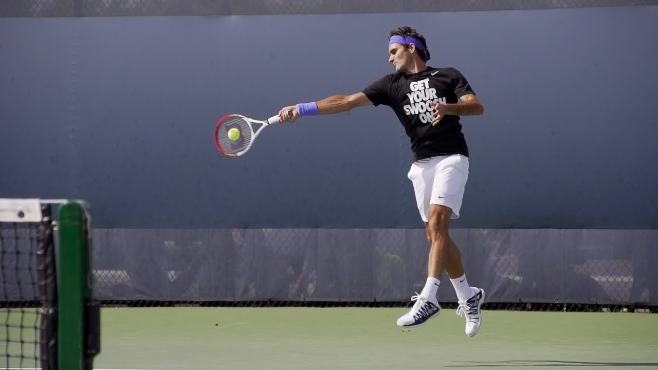 Tennis Players Hd Wallpapers Roger Federer Forehand And Backhand In Super Slow Motion 8
