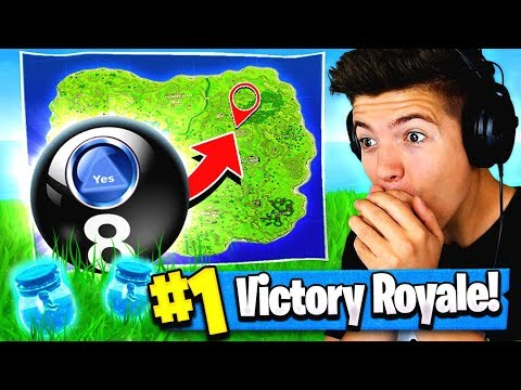 Using MAGIC 8 BALL to WIN FORTNITE: Battle Royale!?
