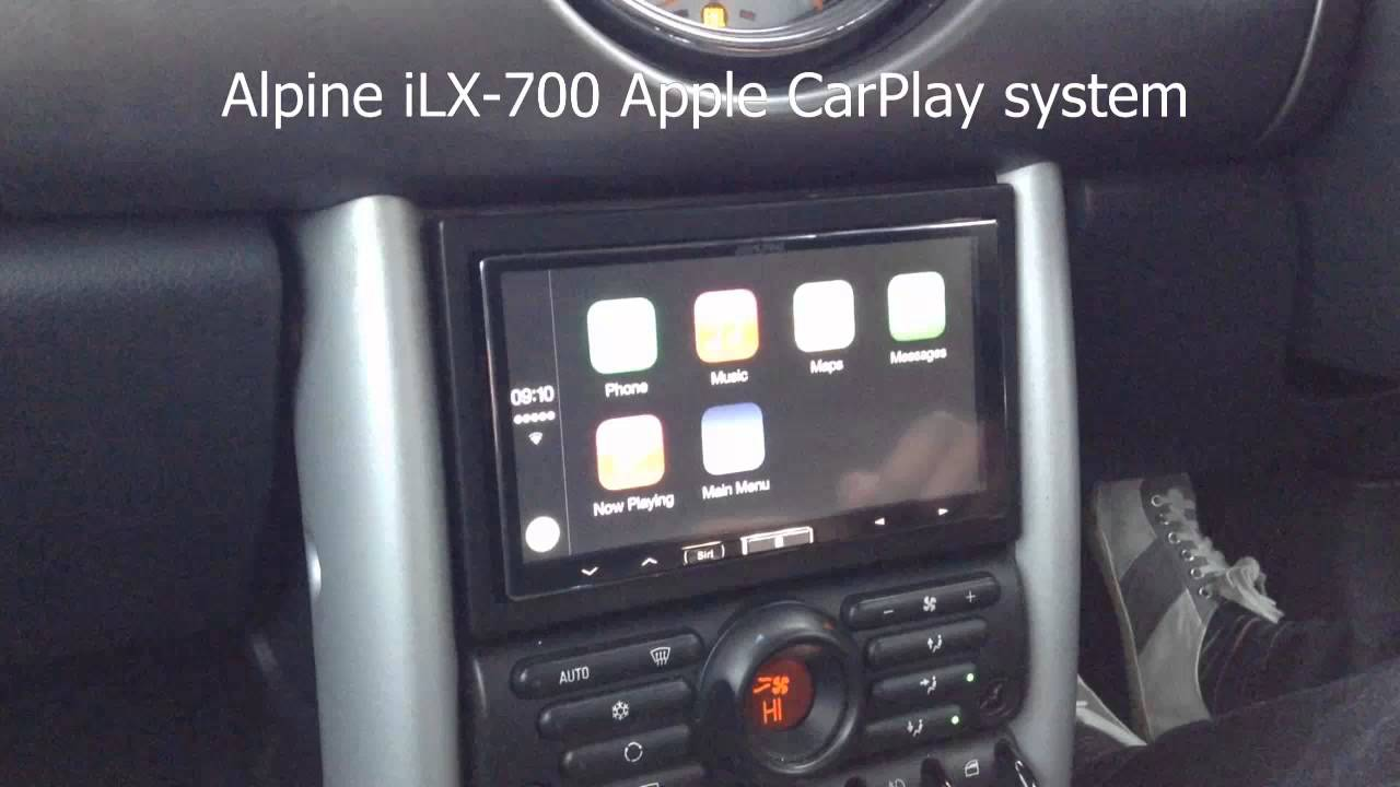 BMW Mini Apple CarPlay Alpine iLX-700