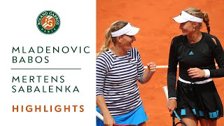 Mladenovic-Babos vs Mertens-Sabalenka - Semi-Final Highglights | Roland-Garros 2019