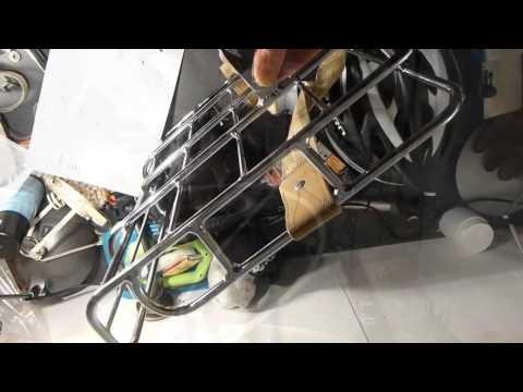 Montage du porte bagages vélo avant Portland Basil