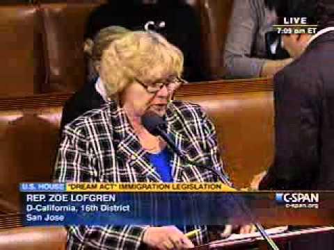 Rep. Lofgren on the DREAM Act