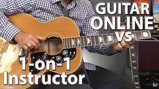Learning Guitar Online VS 1-on-1 Instructor