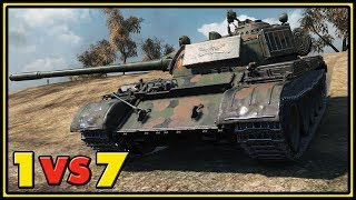 T 55A - 12 Kills - 1 VS 7 - World of Tanks Gameplay