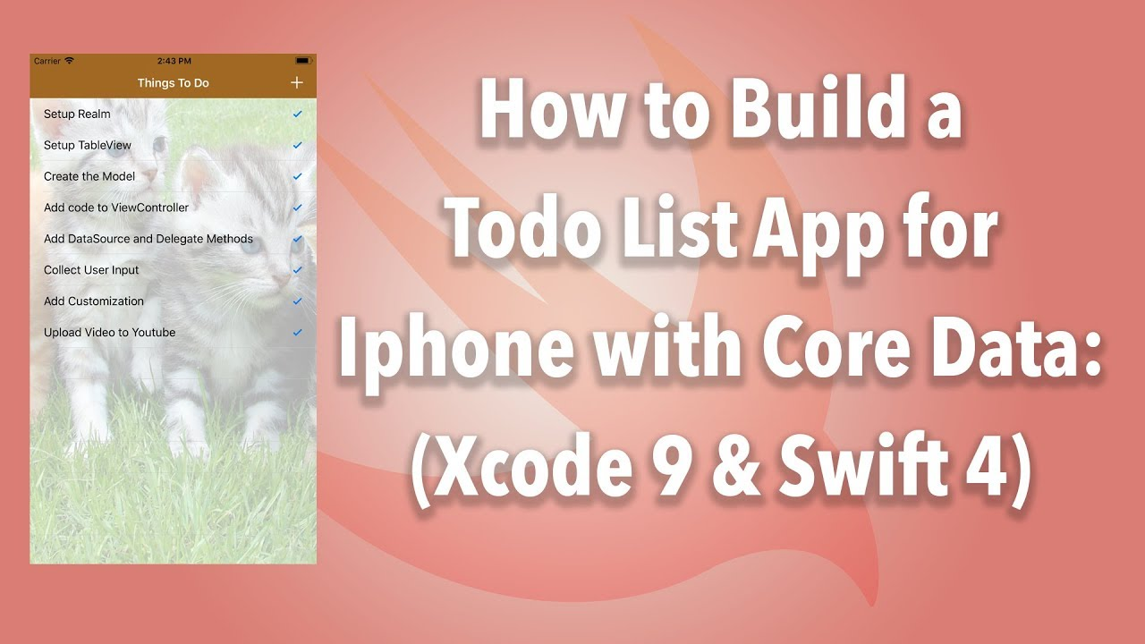 IOS] TodoList with Core Data (Xcode 9 2 and Swift 4) - KodeChamp