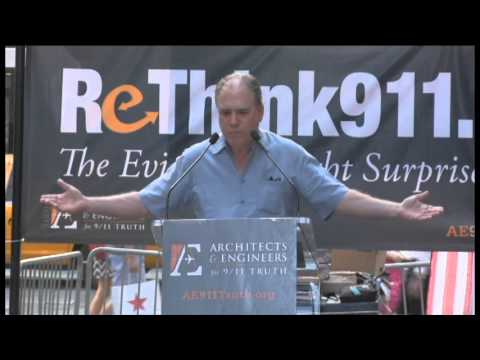 Tom Kiely of INN World Report speaks at Rethink911 Times Square Event 9-11-13