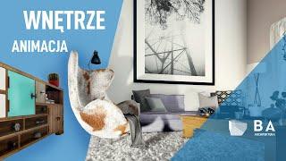 Animacja wnętrz | Interior Architectural Animation |4K| BA ARCHITEKTURA | animacja 3D