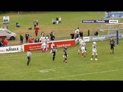 GFLTV 2016 - Playoffs -Schwäbisch Hall Unicorns - Berlin Rebels