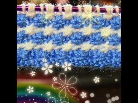 ถักนิตติ้งลายดอกเดซี how to knit Daisy stitch